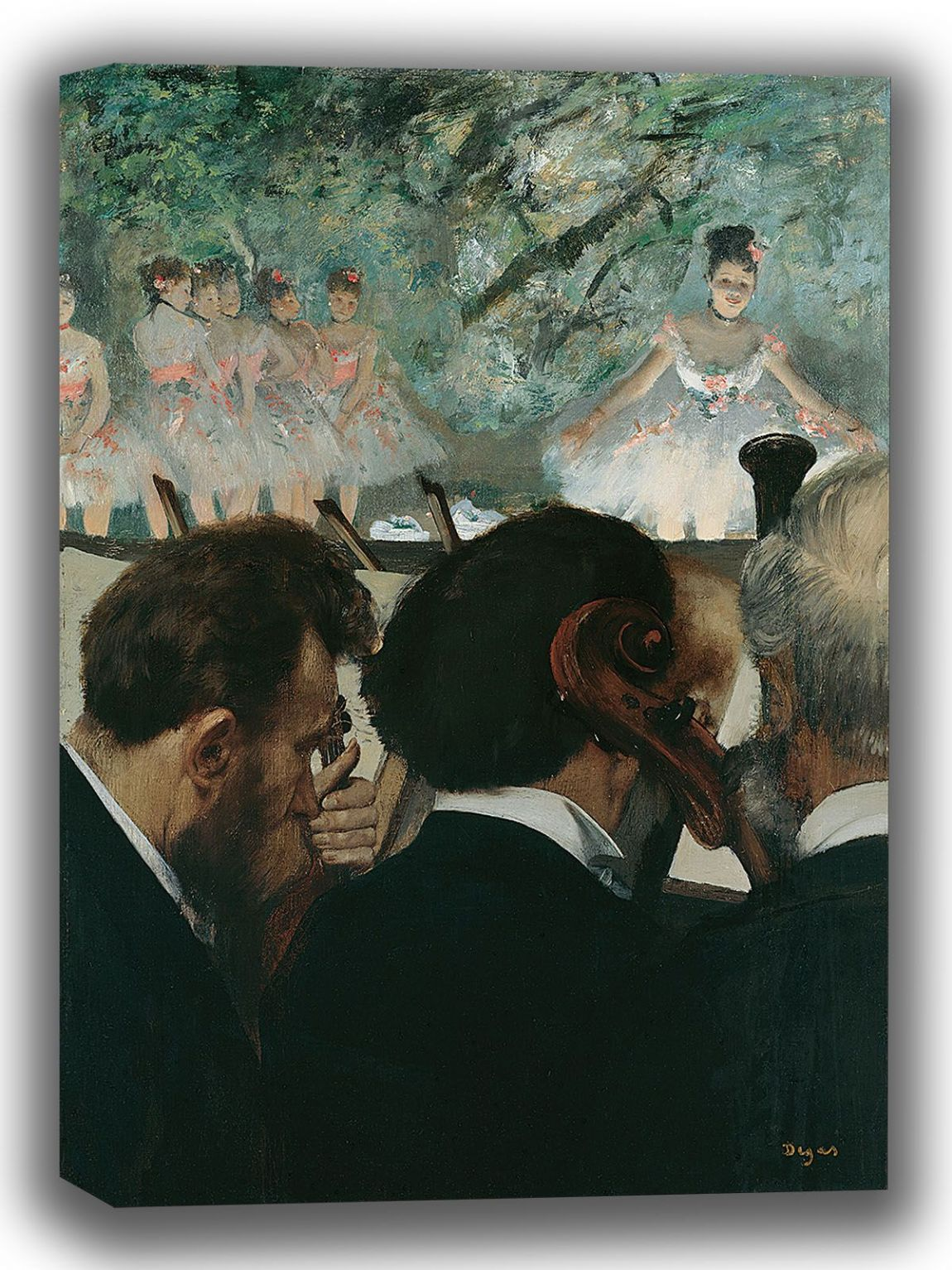 Degas, Edgar: Orchestra Musicians. Fine Art Canvas. Sizes: A4/A3/A2/A1 (003755)